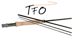 Temple Fork BVK Fly Rod and Logo