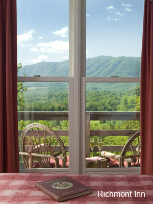 View of the Great Smoky Mountains from Richmont Inn