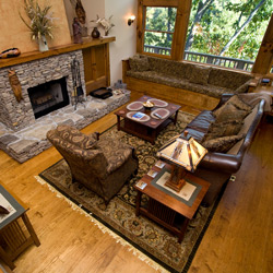 Interior view of a beautiful Townsend cabin