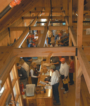 View of Front Counter from Above at Little River Outfitters