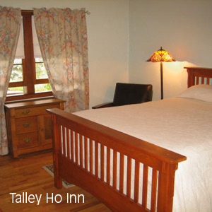 Inside of room at Talley Ho Inn