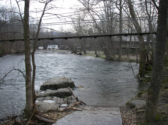Little River at the Swinging Bridge