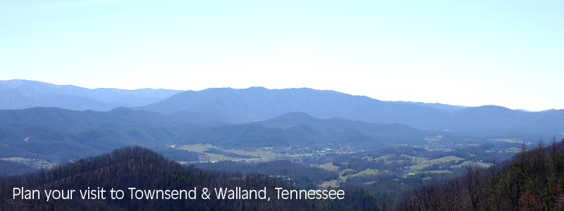 Photograph of Townsend taken from the unfinished Foothills Parkway