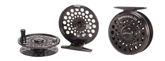 New Orvis Battenkill Reel back view and reel shown with spool removed