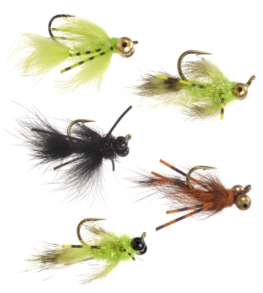Byron's Dragons bass and bluegill flies.