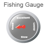 Fishing Gauge indicating fishing is good.