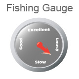 Fishing Gauge, indicating fishing is between lousy and good.