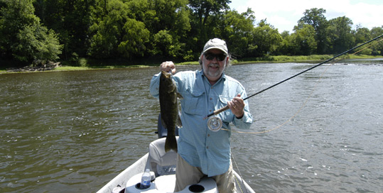"Byron Begley holding a 20"" smallmouth caught on the Holston River June 2014"