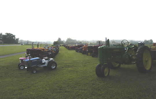Antique Tractors at the Townsend Visitors Center.