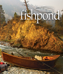 Drift Boat on a Western River and the Fishpond Logo