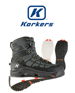 Korkers Wading Boot and Logo