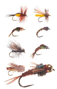 Six Trout Flies