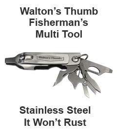 Walton's Thumb Fisherman's Multi Tool Shown with Tools Open