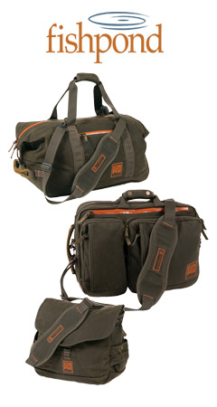 "Three Fishpond Luggage pieces in the color ""Peat Moss"""