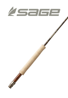Butt Section of Sage Trout LL Fly Rod and Sage Logo