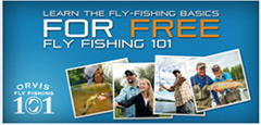 Free Orvis Fly Fishing 101 Class Logo