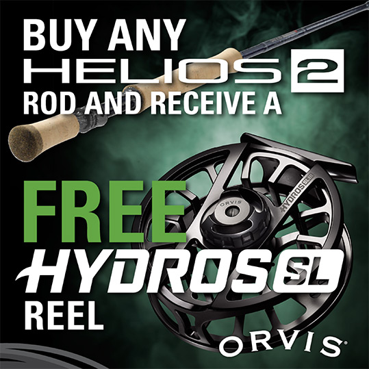 Orvis Helios 2 and Hydros Reel Promotion