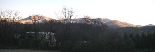 Snow Covered Mountains in the Great Smoky Mountains December 8, 2011