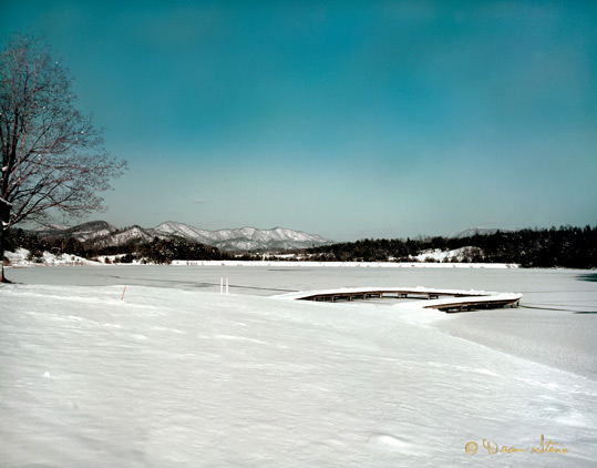 Laurel Lake after a snowstorm